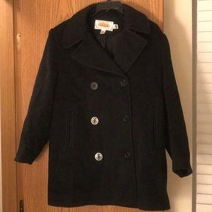 Petite Black Peacoat